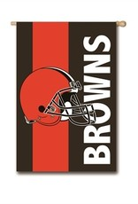 "EVERGREEN Cleveland Browns 28"" x 44"" Striped House Flag"