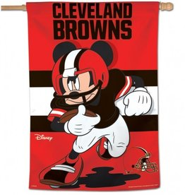 "WINCRAFT Cleveland Browns Disney Mickey Mouse 28"" x 40"" House Flag"