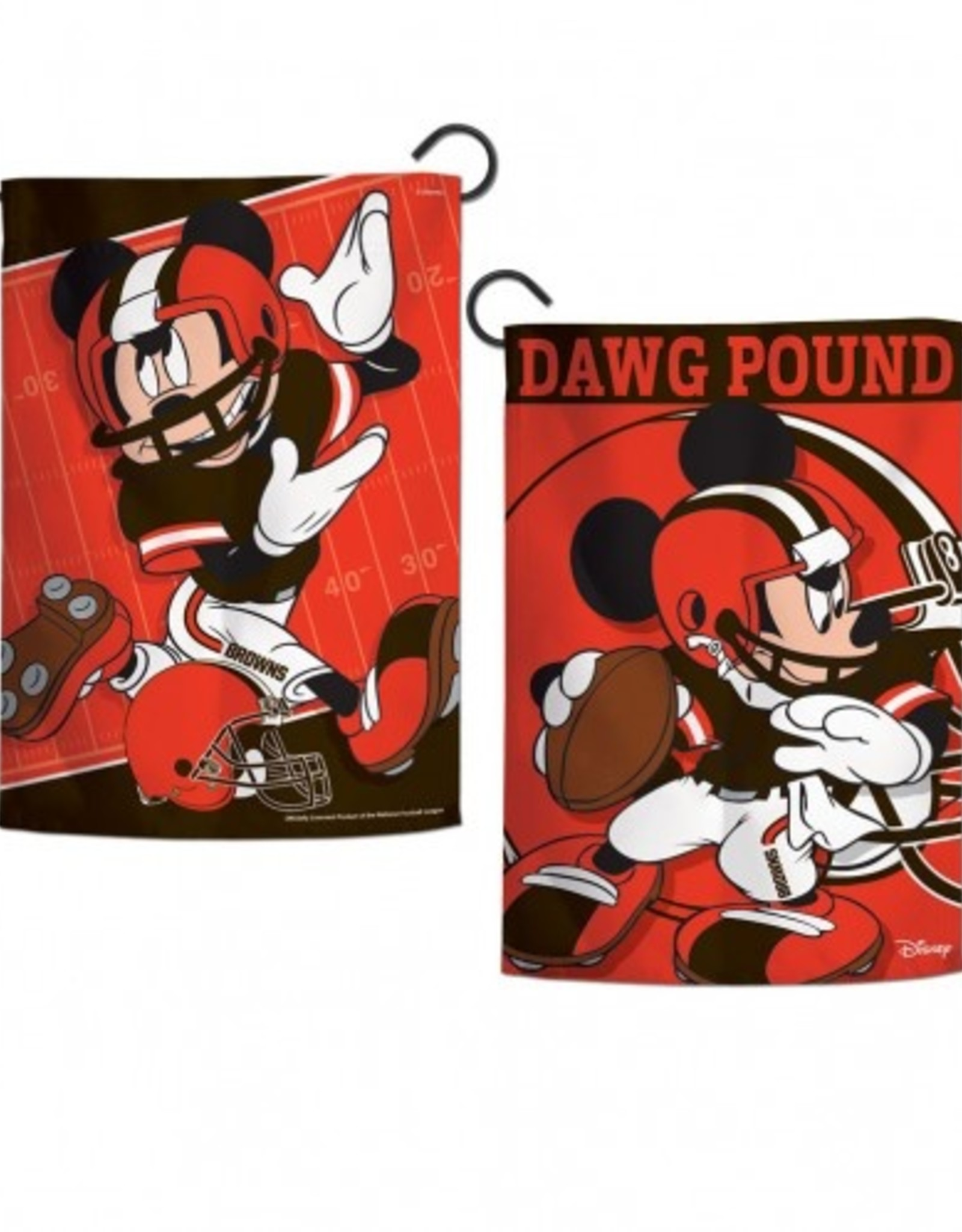 "WINCRAFT Cleveland Browns Disney Mickey Mouse 12.5"" x 18"" Garden Flag"