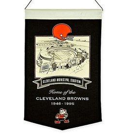 WINNING STREAK SPORTS Cleveland Browns Cleveland Municipal Stadium Banner