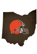 FAN CREATIONS Cleveland Browns Team Logo State Sign