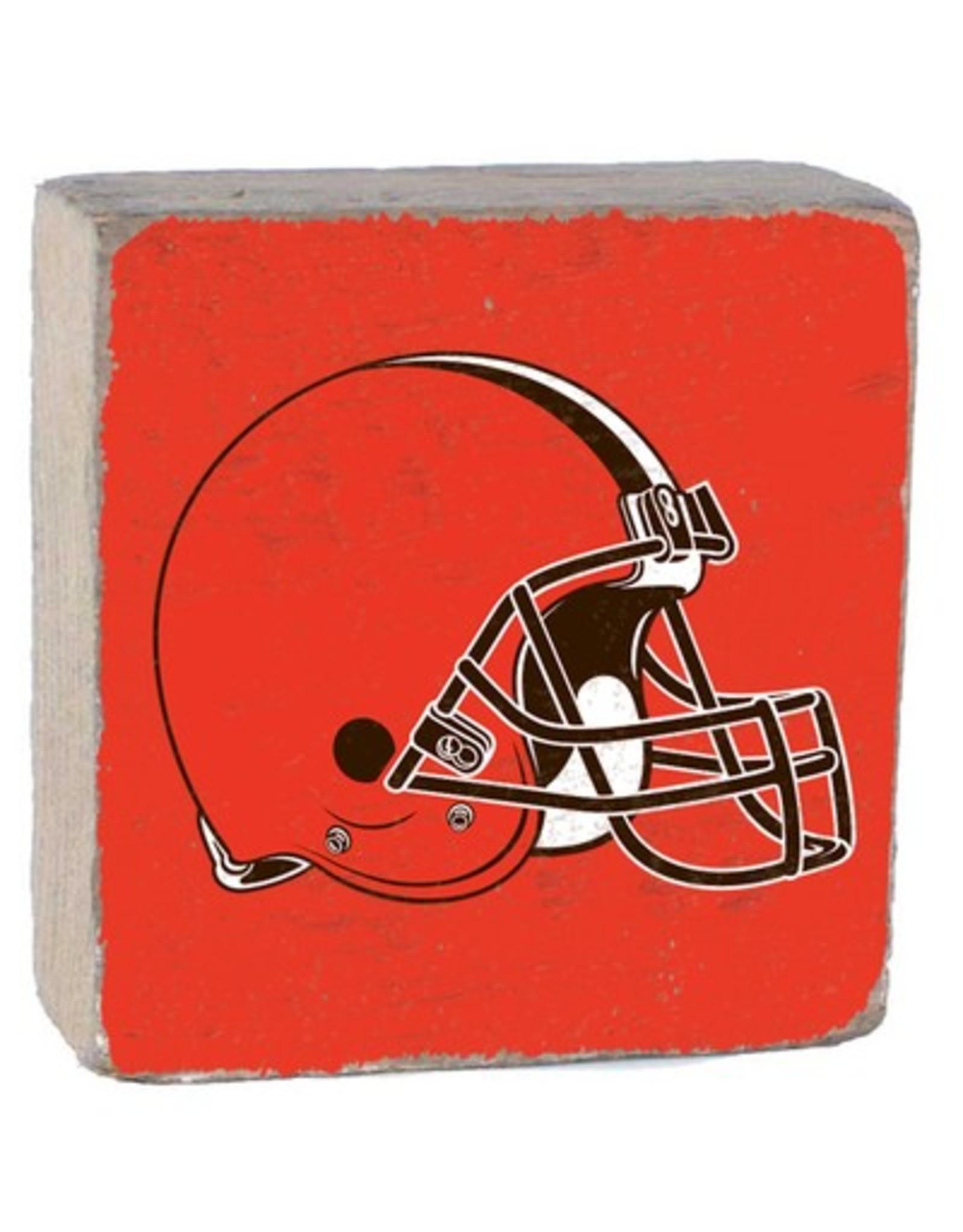 RUSTIC MARLIN Cleveland Browns Rustic Wood Team Block