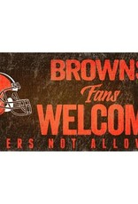 FAN CREATIONS Cleveland Browns Fans Welcome Sign