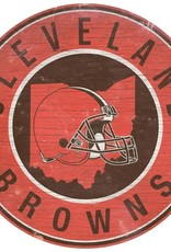 FAN CREATIONS Cleveland Browns Round State Sign