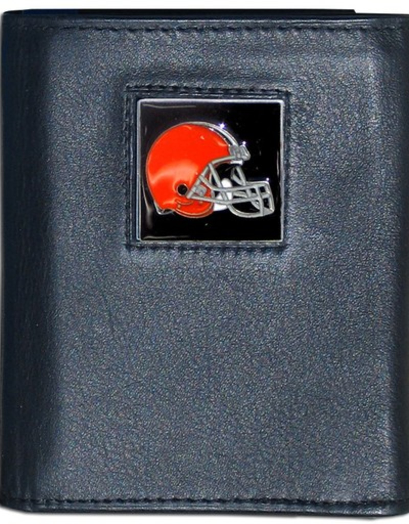 Cleveland Browns Executive Black Leather Trifold Wallet