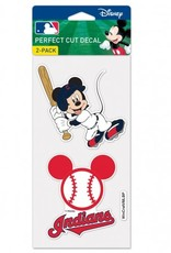 WINCRAFT Cleveland Indians Set of Two DISNEY 4x4 Perfect Cut Decals