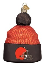 OLD WORLD CHRISTMAS Cleveland Browns Beanie Ornament