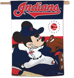 "WINCRAFT Cleveland Indians Disney Mickey Mouse 28"" x 40"" House Flag"