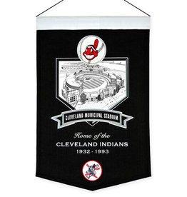 Cleveland Indians Cleveland Municipal Stadium Banner
