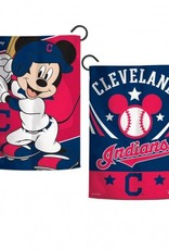 """WINCRAFT Cleveland Indians Disney Mickey Mouse 12.5"""" x 18"""" Garden Flag"""