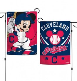 "WINCRAFT Cleveland Indians Disney Mickey Mouse 12.5"" x 18"" Garden Flag"