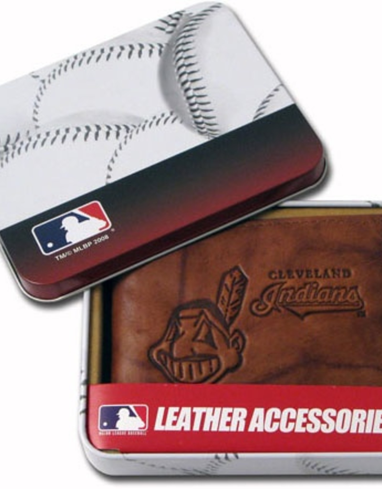 RICO INDUSTRIES Cleveland Indians Genuine Leather Vintage Billfold Wallet