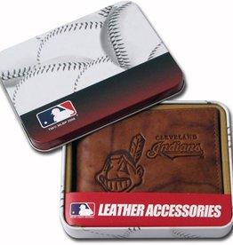 RICO INDUSTRIES Cleveland Indians Genuine Leather Vintage Billfold Wallet
