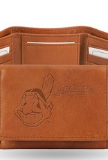 RICO INDUSTRIES Cleveland Indians Genuine Leather Vintage Trifold Wallet