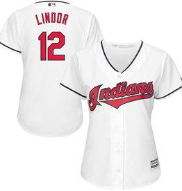 MAJESTIC Cleveland Indians Women's Francisco Lindor Cool Base Replica Jersey