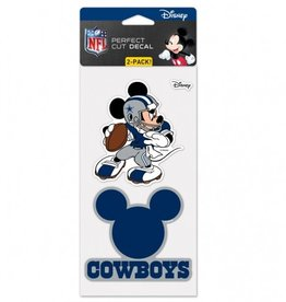 WINCRAFT Dallas Cowboys Set of Two DISNEY 4x4 Perfect Cut Decals