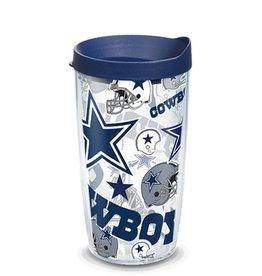 Dallas Cowboys 16oz Tervis All Over Print Tumbler