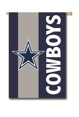 "EVERGREEN Dallas Cowboys 28"" x 44"" Striped House Flag"