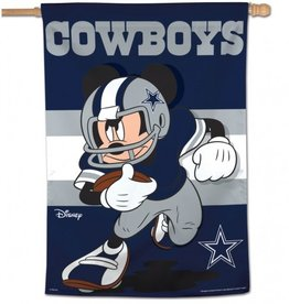 "WINCRAFT Dallas Cowboys Disney Mickey Mouse 28"" x 40"" House Flag"