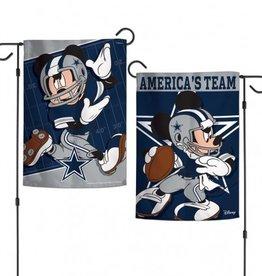"""WINCRAFT Dallas Cowboys Disney Mickey Mouse 12.5"""" x 18"""" Garden Flag"""