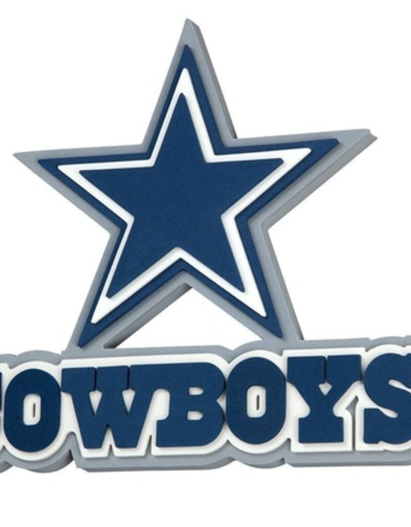 Dallas Cowboys 3D Foam Logo Sign - Font