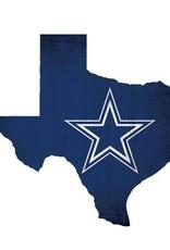 FAN CREATIONS Dallas Cowboys Team Logo State Sign