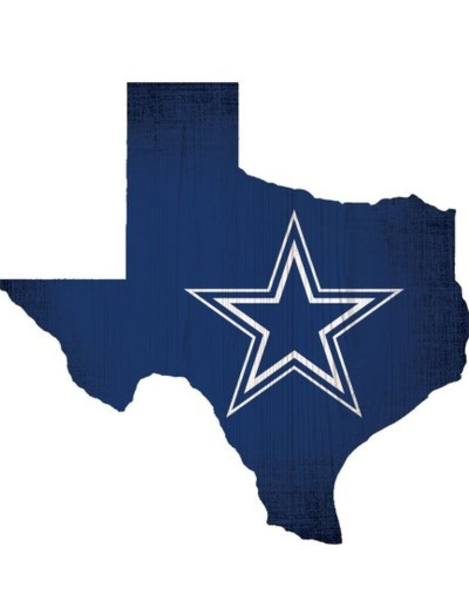 FAN CREATIONS Dallas Cowboys Team Logo State Sign