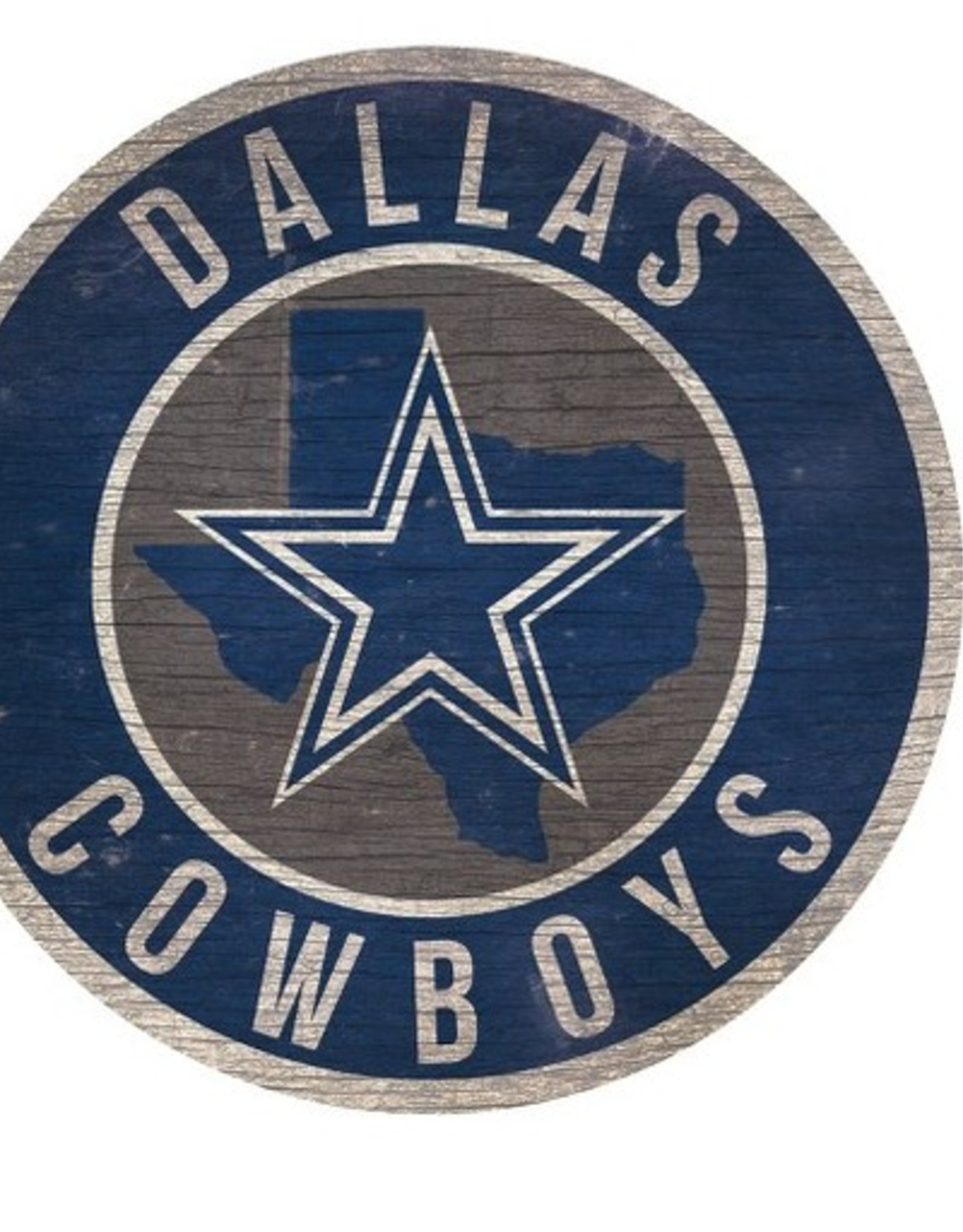 FAN CREATIONS Dallas Cowboys Round State Sign