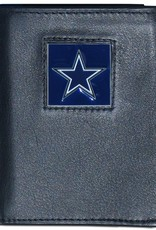 SISKIYOU GIFTS Dallas Cowboys Executive Black Leather Trifold Wallet