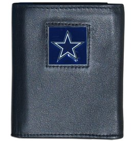 Dallas Cowboys Executive Black Leather Trifold Wallet