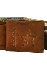RICO INDUSTRIES Dallas Cowboys Genuine Leather Vintage Billfold Wallet