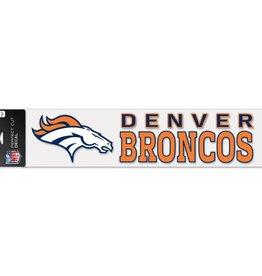 "WINCRAFT Denver Broncos 4""x17"" Perfect Cut Decals"