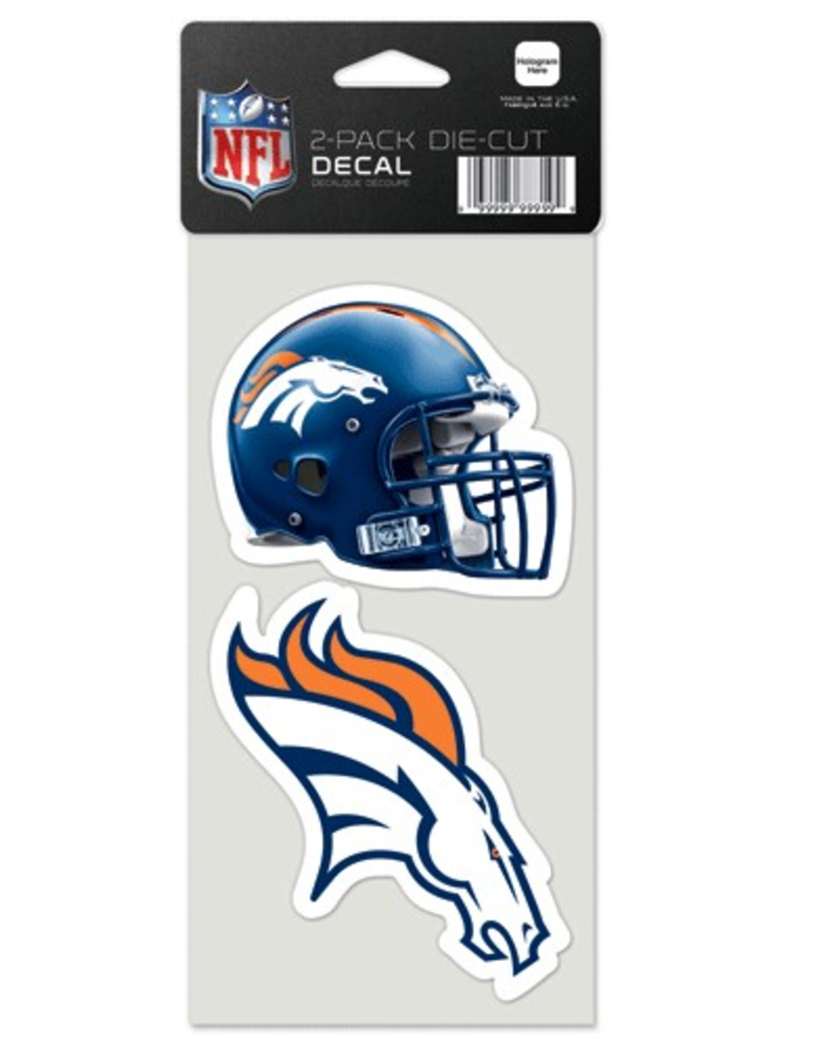 Denver Broncos Set of Two 4x4 Perfect Cut Decals