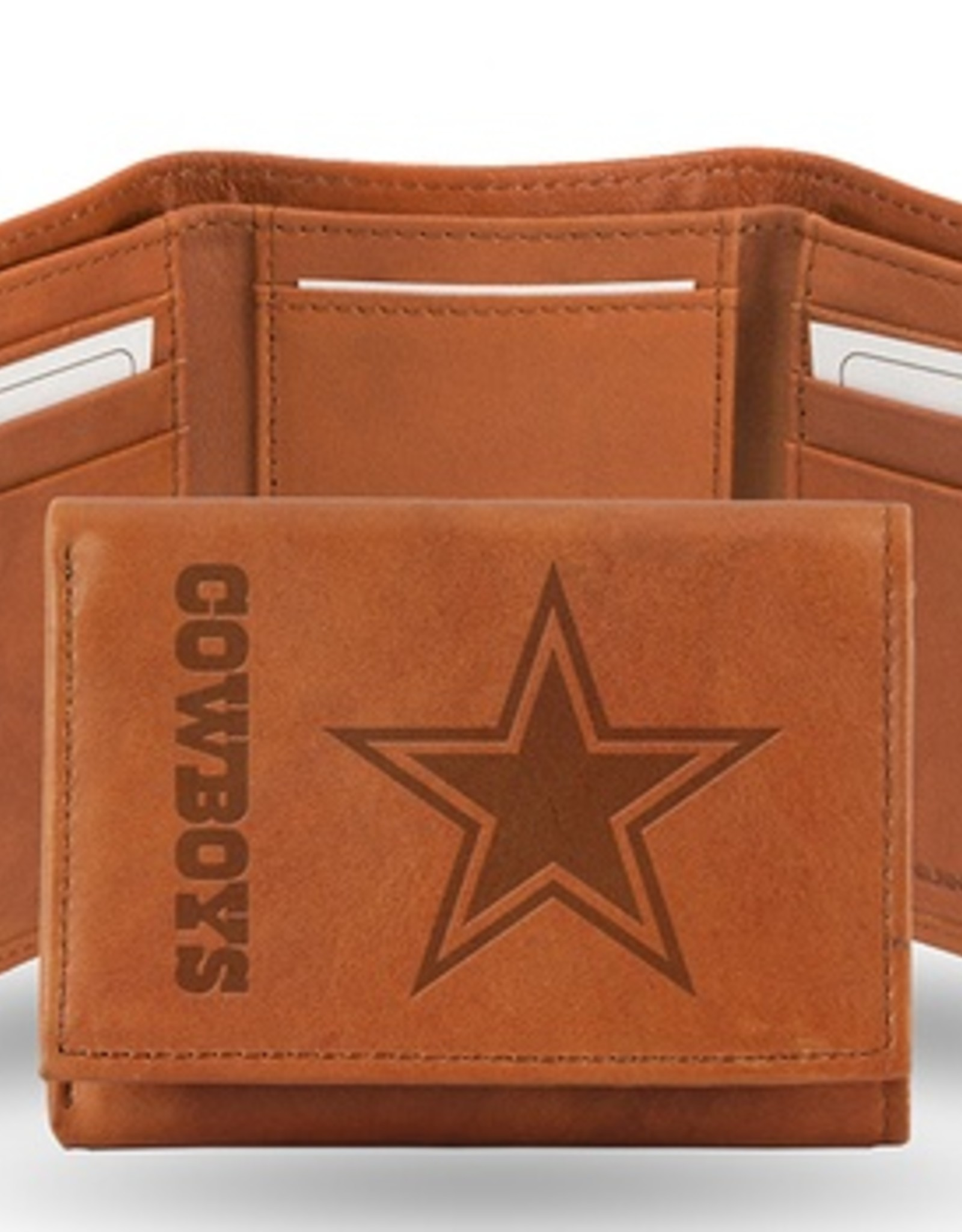 RICO INDUSTRIES Dallas Cowboys Genuine Leather Vintage Trifold Wallet