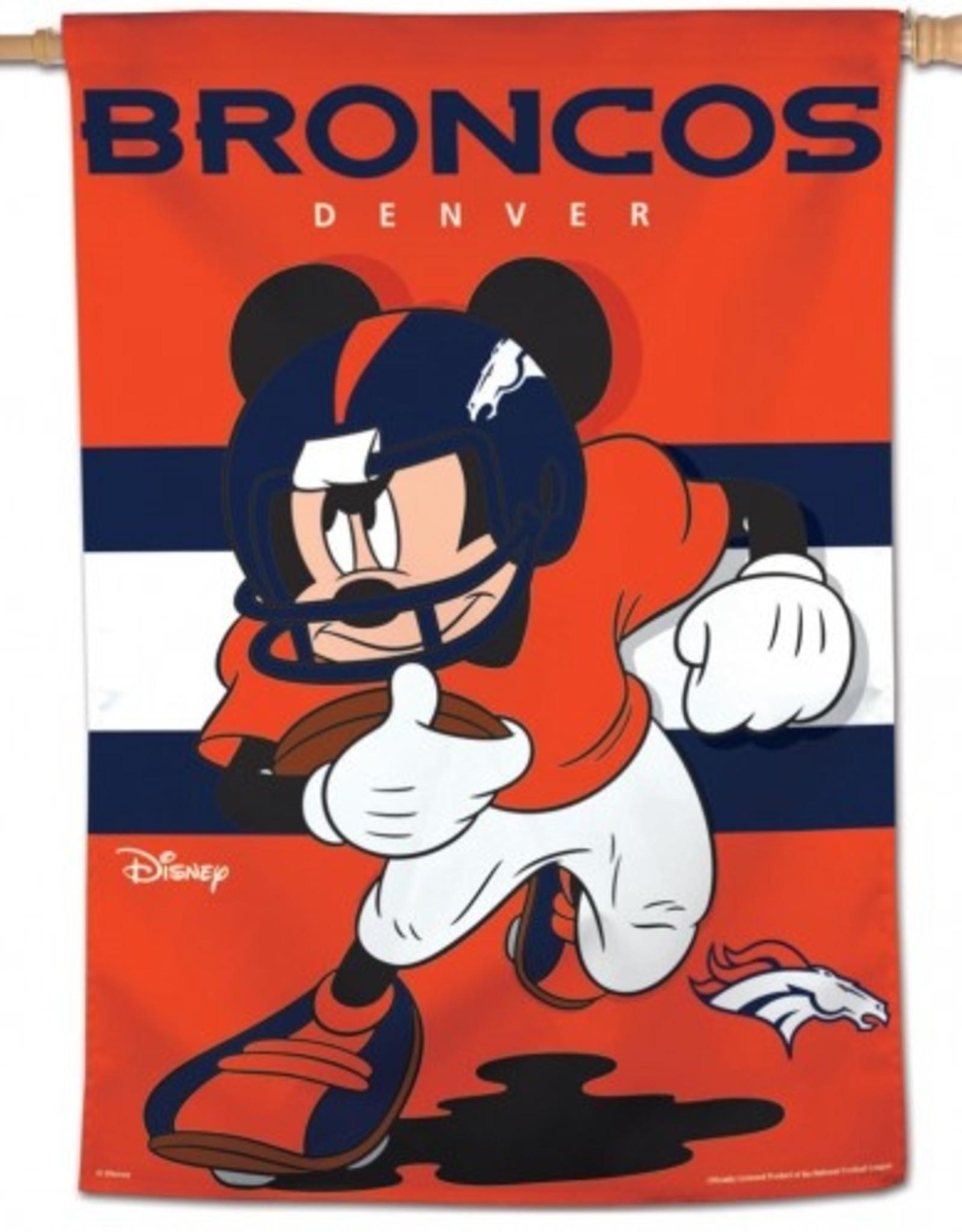 "WINCRAFT Denver Broncos Disney Mickey Mouse 28"" x 40"" House Flag"