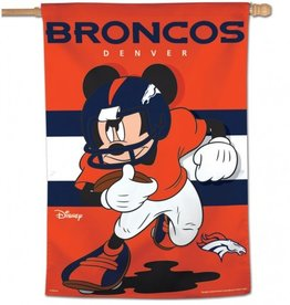 "WINCRAFT Denver Broncos Disney Mickey Mouse 28"" x 40"" House Flag"