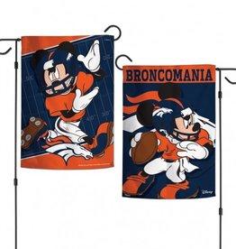 """WINCRAFT Denver Broncos Disney Mickey Mouse 12.5"""" x 18"""" Garden Flag"""