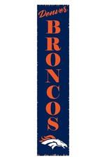 RUSTIC MARLIN Denver Broncos Vertical Rustic Sign
