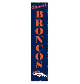 RUSTIC MARLIN Denver Broncos Vertical Rustic Sign