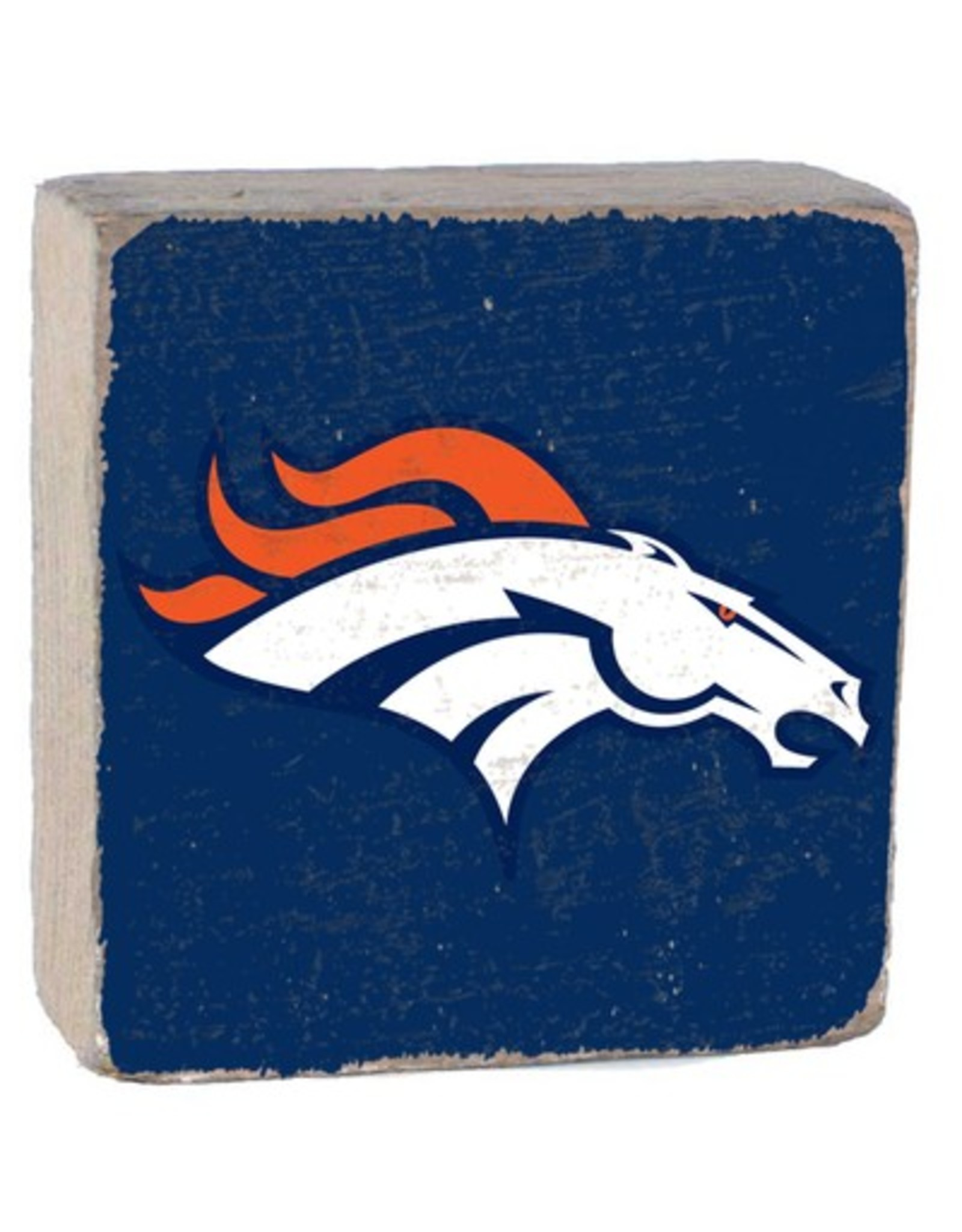 RUSTIC MARLIN Denver Broncos Rustic Wood Team Block