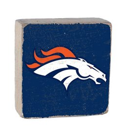 RUSTIC MARLIN Denver Broncos Rustic Wood Team Block