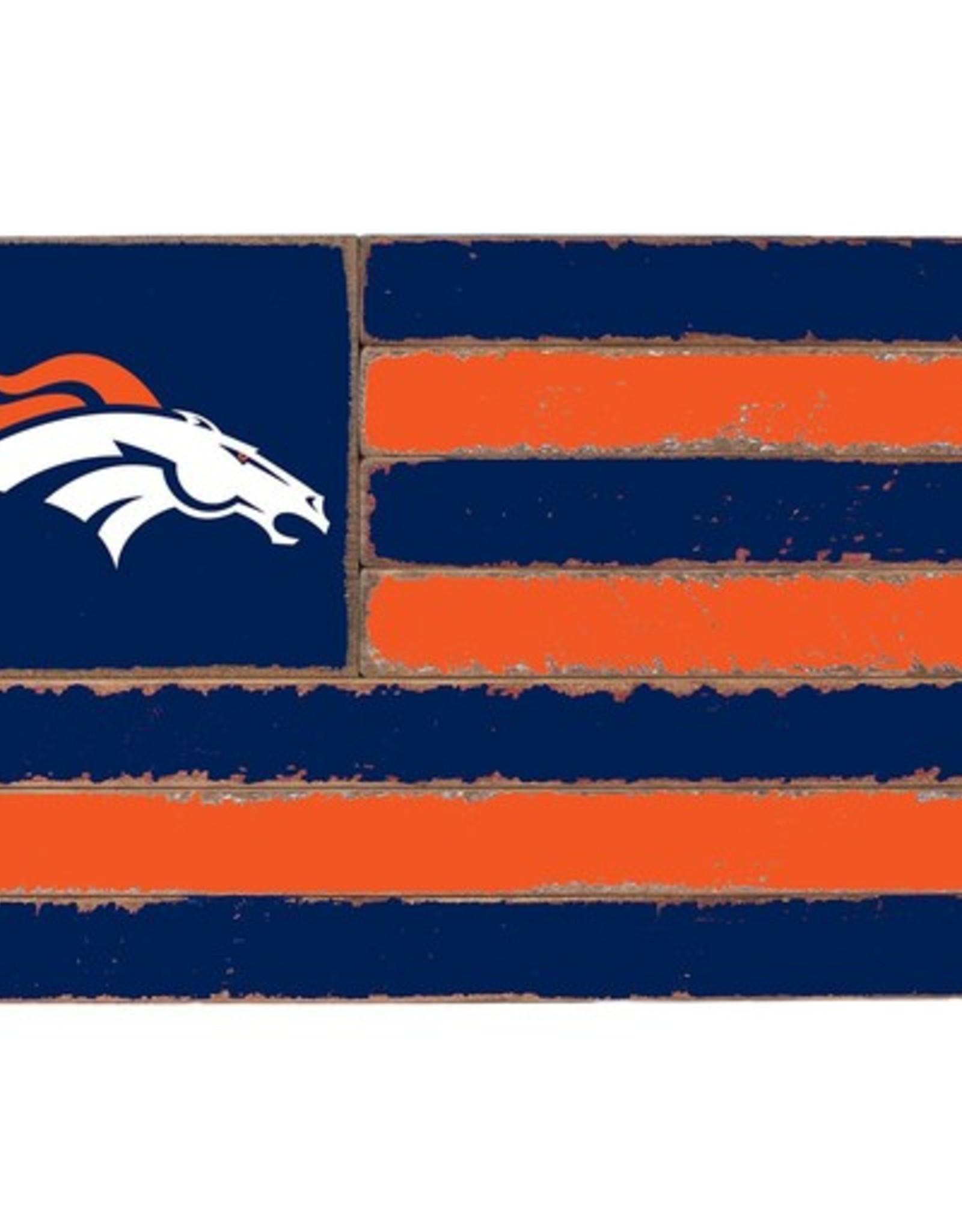 RUSTIC MARLIN Denver Broncos Rustic Team Flag
