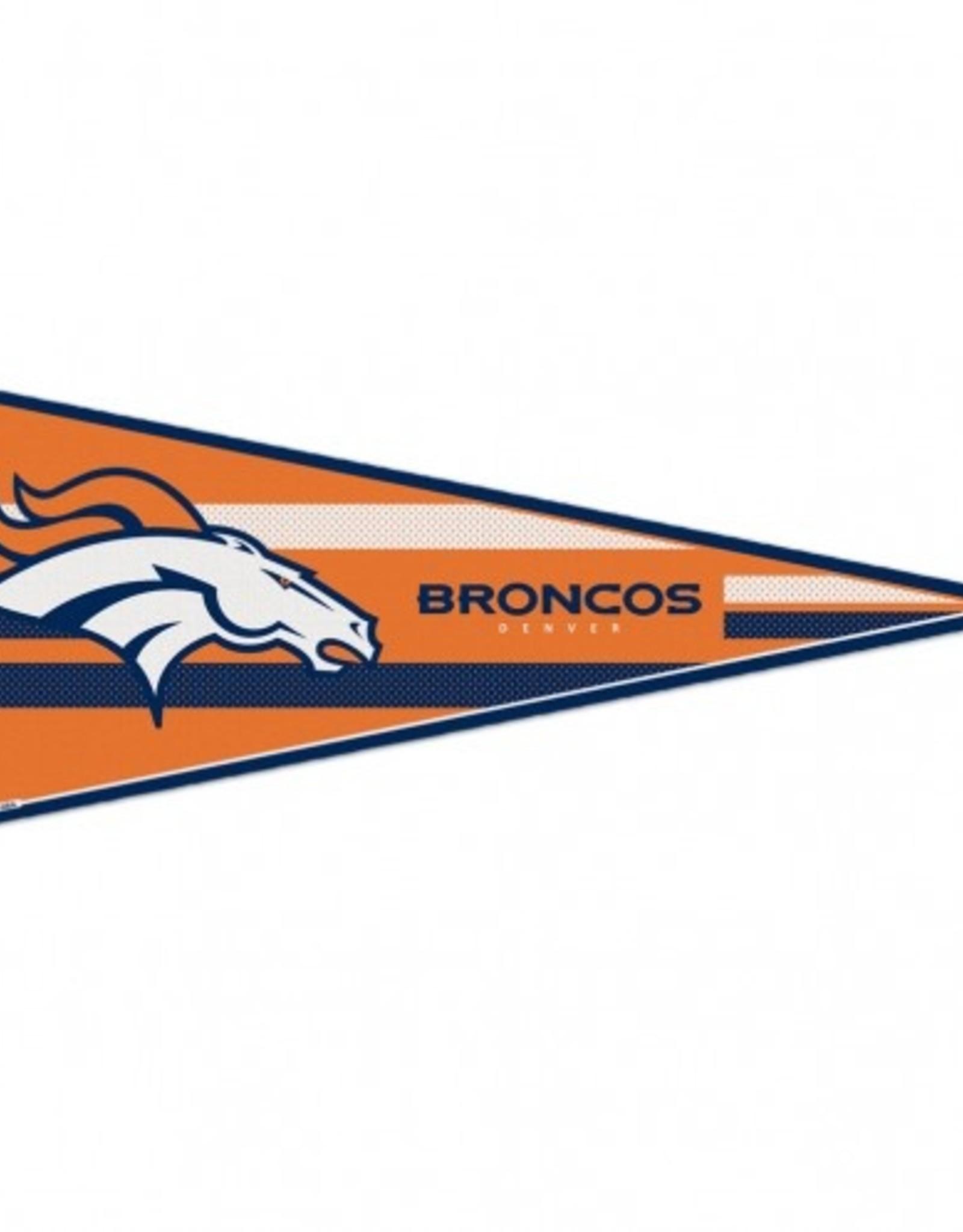 """Denver Broncos 12""""x30"""" Classic Pennant"""