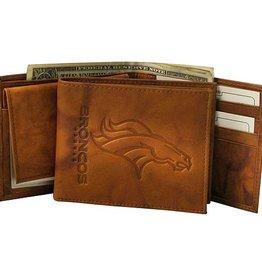 Denver Broncos Genuine Leather Vintage Billfold Wallet