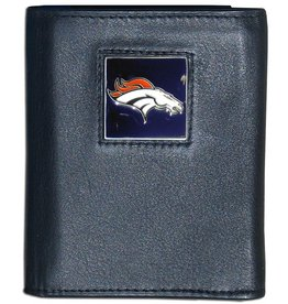 Denver Broncos Executive Black Leather Trifold Wallet