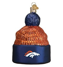 OLD WORLD CHRISTMAS Denver Broncos Beanie Ornament