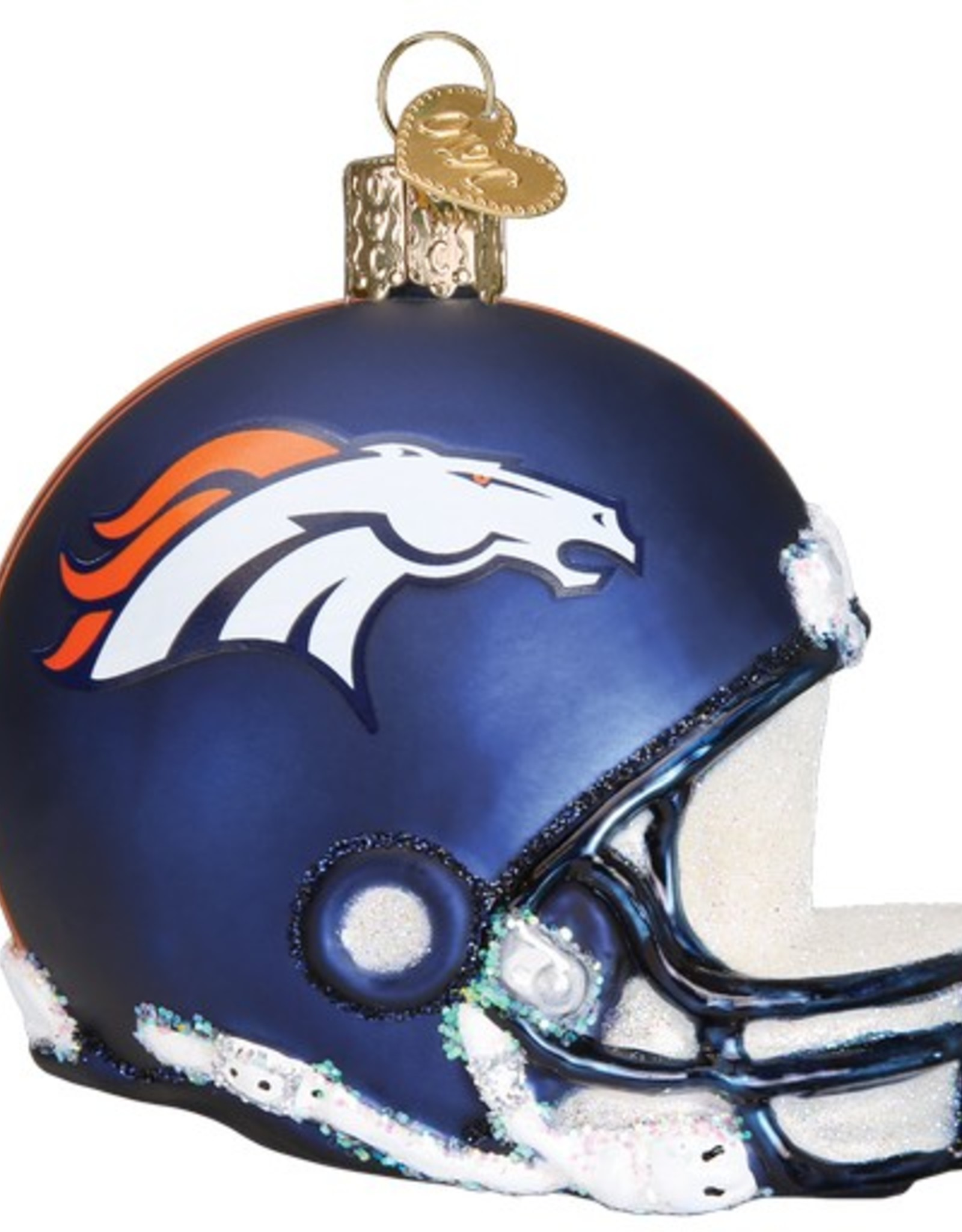 OLD WORLD CHRISTMAS Denver Broncos Helmet Ornament