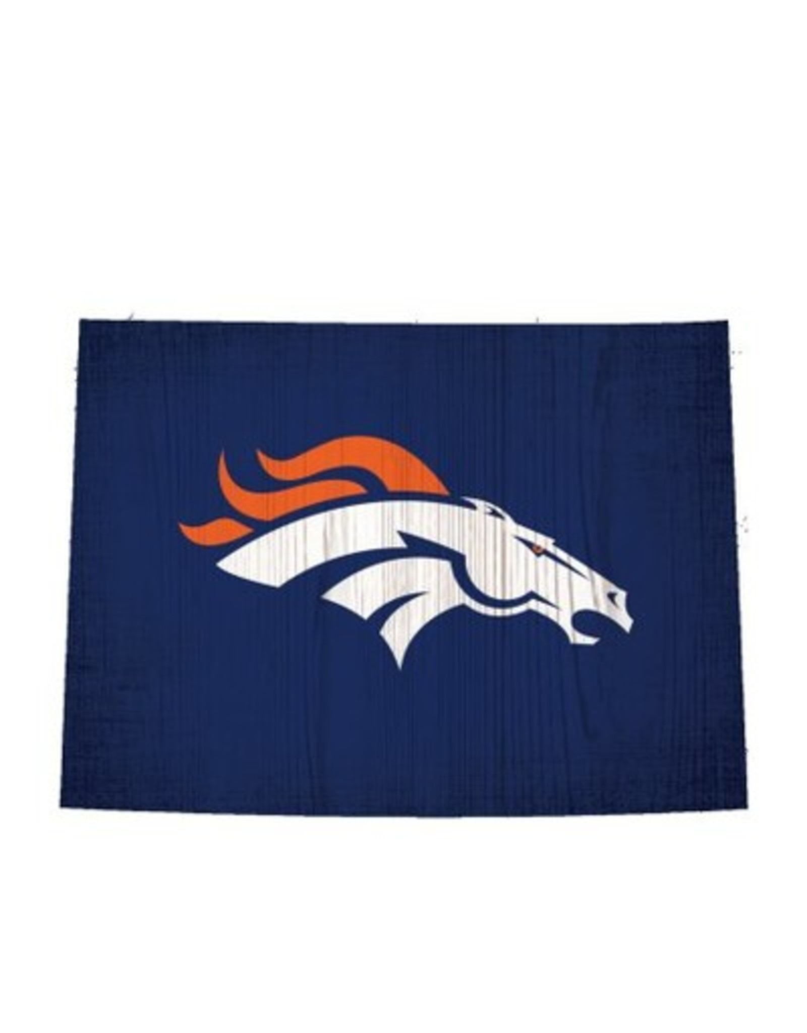 FAN CREATIONS Denver Broncos Team Logo State Sign