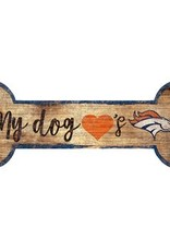 FAN CREATIONS Denver Broncos Dog Bone Sign