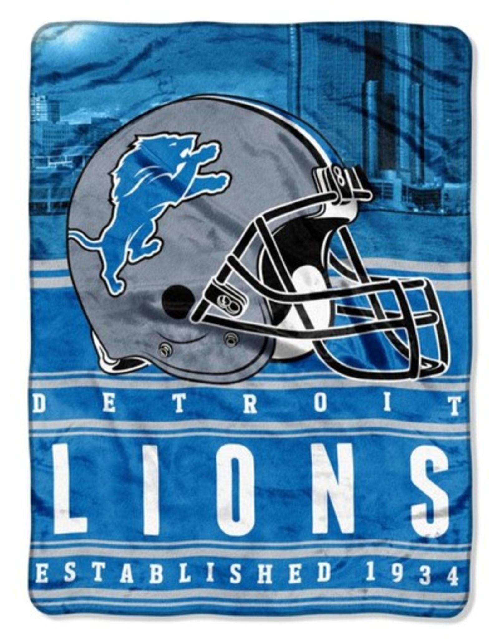 NORTHWEST Detriot Lions 60in x 80in Silk Touch Throw Wrap